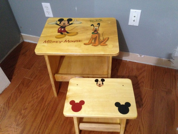 Disney mickey mouse and pluto handcrafted by reddevilwoodworking - Mickey mouse stool ...