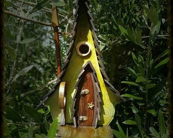 Elf prince birdhouse/birdhouses /handmade /Garden art /bird houses /birdhouses