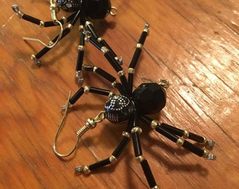 Wire Spider Earrings