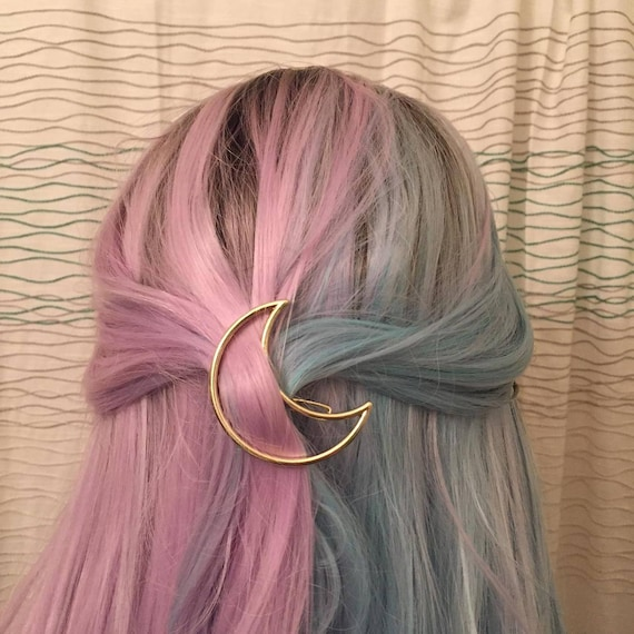 Back In Stock Gold Or Silver Crescent Moon Hair Clip