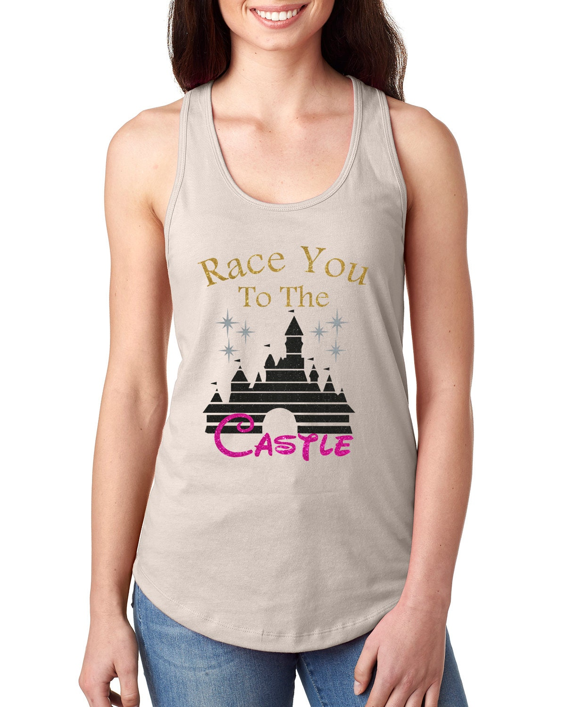 Glitter Hemd / / Disney-Shirt / / Disney Schloss Shirt / /