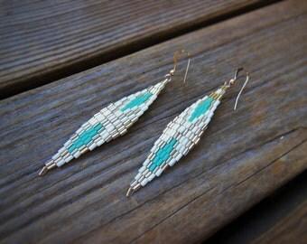 Geometric Diamonds Woven Earrings