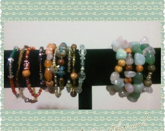 Bead and Crystal bracelets