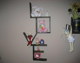 Reclaimed Pallet Wood Love Shelf