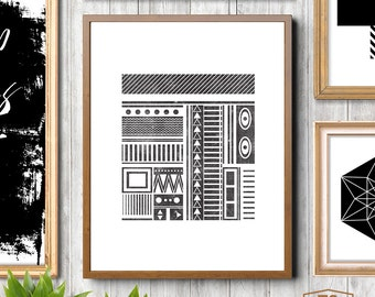 Wall Art Navajo Print Aztec Home Decor Modern Southwestern Decor Modern Navajo Prints South Western Aztec Art Prints