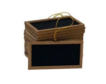 "4""W x 2""H Mini chalk board black board  Vintage Wedding Favor Lot of 12pcs"