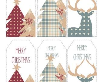 Christmas Gift Tags Printable Woodland