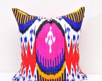 Multicolor Ikat Pillows - Ikat Pillow - Designer Pillow - Decorative Ikat Pillow - Designer pillow cover - Ikat Pillow Cover