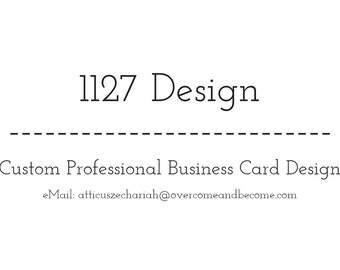 Ready to print High Quality professional Business card - Digital file