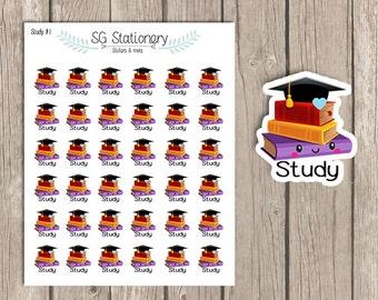 Kawaii Study Stickers, Planner Stickers, Functional Sticker