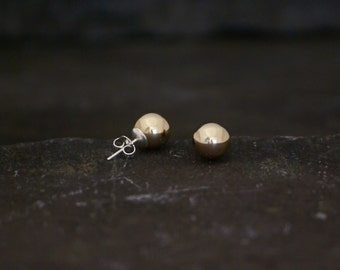 Gold Bauble Earrings 10mm