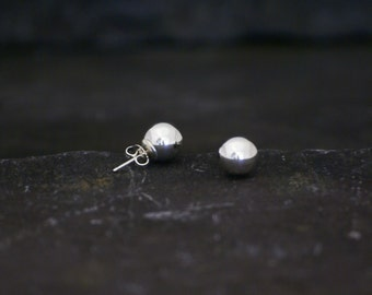 Silver Bauble Earrings 10mm