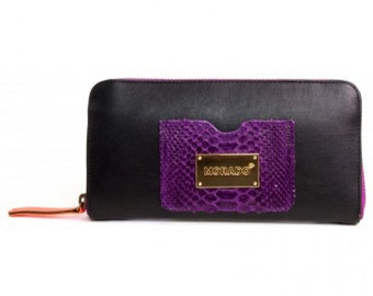 Morado Bag purse Snake black & purple