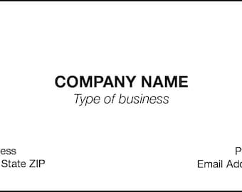 CLASSIC CREST COVER Business Cards
