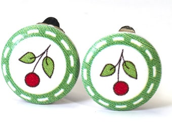 Earrings cherry