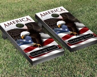 American Eagle Cornhole Game Set