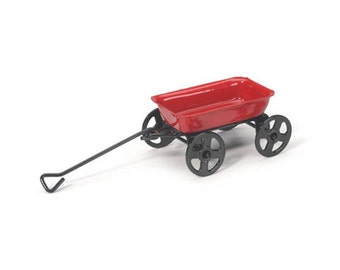 Mini Gardenn Little Red Wagon garden miniature