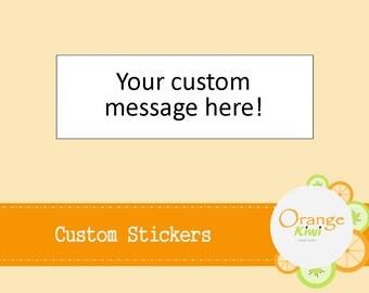 100 Custom Stickers - Custom Labels - Envelope Seals - Wedding Favors - Packaging