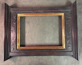 22k and black ornate  tabernacle 9x12 frame