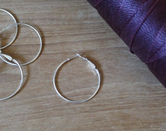 Hoop earrings hoops barren 20pcs 10pcs