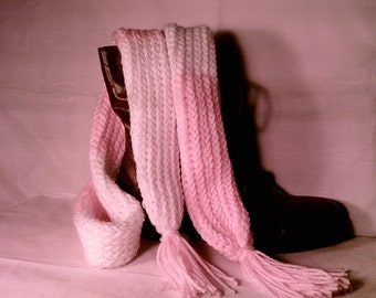 Pink Baby Tube Skinny Scarf