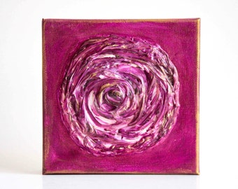 Purple Rose Acrylic Painting