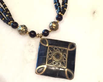 black color indian necklace