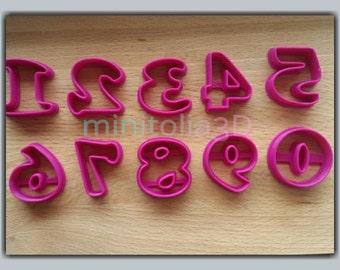Block Font Number Cookie Cutter Set