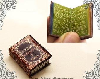 "Lemegeton Magic Miniature Book ""The Lesser Keys of Solomon"" – 12th Scale Magic Seals OPENABLE Dollhouse Miniature Book – Printable DOWNLOAD"