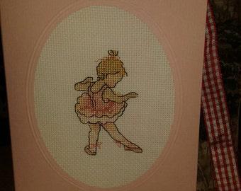 The little ballerina (birthday card)