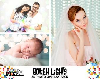 BOKEH PHOTOSHOP OVERLAYS, Bokeh Overlays, Photoshop Overlays, Bokeh Lights, New Year Overlays, Holidays, Wedding, New born lights overlay