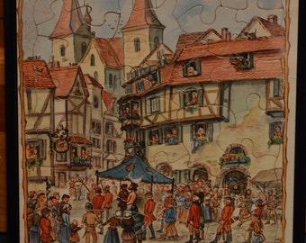 Vintage Fairytale Puzzle Framed