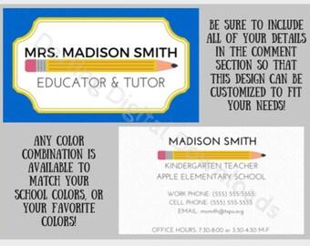 Custom Educator Business Card