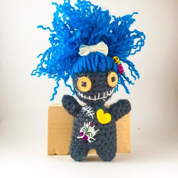 Tiny Amigurumi Doll : Tiny voodoo doll amigurumi crochet