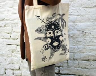 Tote Bag mask screen printing