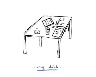 My table Print
