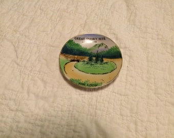 vintage GREAT SMOKY MOUNTAINS souvenir plate