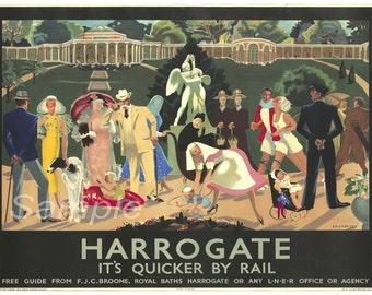 Vintage Harrogate LNER Railway Poster Print