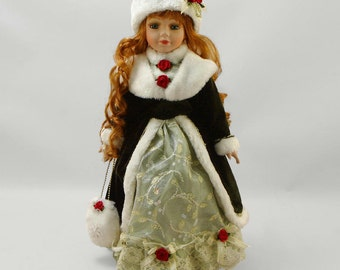 Porcelain doll vasilisa, 41 cm