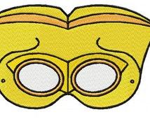 Mask Tiki 03 Embroidery Design Sizes (4*4-100*100)(5*7-130*180) PES,JEF,HUS... etc