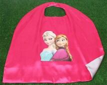Kids Girls superhero capes, ANNA Elsa cape, Anna Frozen Cape, Anna Frozen Dress, ANNA Elsa for Birthday Party, Frozen cape, kid party favor