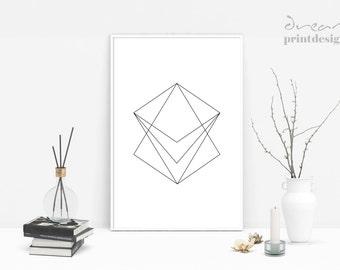Minimalist Print, Geometric Poster, Minimal Poster, Scandinavian Print, Nordic Poster, Geometric Wall Art, Modern Print, Modern Poster
