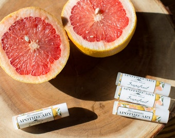 Grapefruit Lip Balm - All Natural - Hermanas Apothecary - Hand Poured