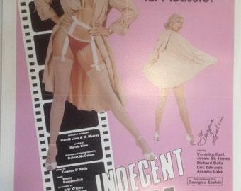 Indecent Exposure Adult Movie Poster, Signed by Georgina Spelvin