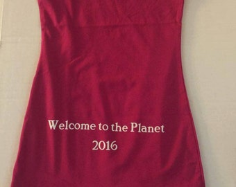 Maternity tank top with cool sayings