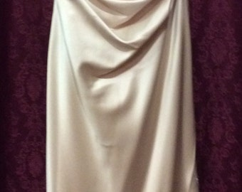 Dark Creme Bridesmaid Evening Dress Size 16