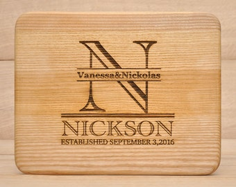 Personalized Monogram Cutting Board,Personalized Cutting Board,Cutting Board Gift,  Engraved Cutting Board, Custom Cutting Board, Wood Board