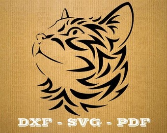 Cat SVG Kitten vector files for cricut, Cat cutting files, clipart kitty, DXF files cat, silhouette cat, svg animal
