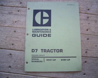 Caterpillar D7 Tractor Maintenance guide 9-74