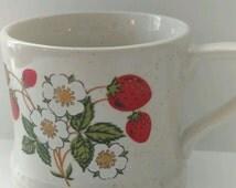 Sheffield Strawberries and 'n Cream Stoneware Coffee Mug Made in Japan